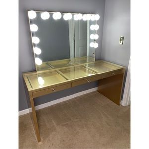 Impressions Vanity Mirror & Table